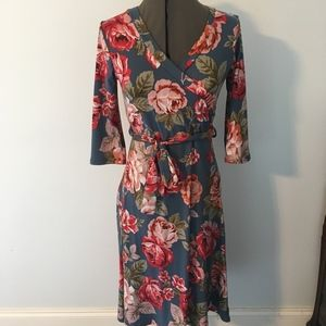 Lara fashion flowered fall boutique dress
